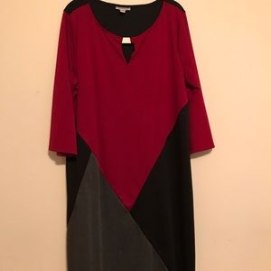 Avenue Red and Black Dress